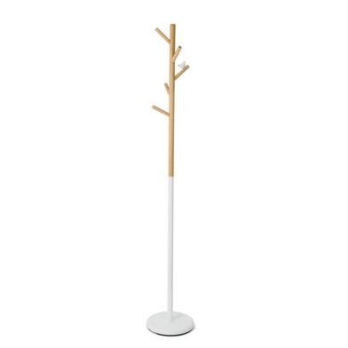 Balvi Perchero Birdie Color blanco Con 5 colgadores Con figura de pajarito Metal/madera 177cm