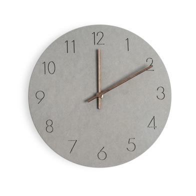 Balvi Reloj de pared Bonne Heure Color gris Movimiento silencioso 29cm 1xAA no incluida Madera DM