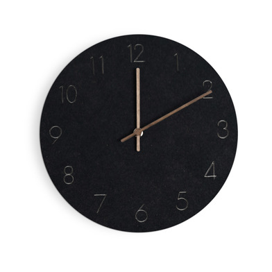 Balvi Wall clock Bonne Heure Black colour Silent movement 29cm 1xAA not included MDF wood