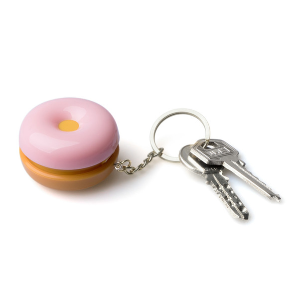 Balvi Key ring & pill box Donut of strawberry To carry keys and store pills or candies Metal/plastic