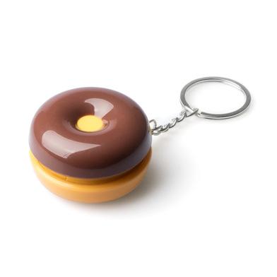 alvi Porte-clefs & pilulier Donut au chocolat Pour accrocher vos clés ou y mettre vos pilules Métal/