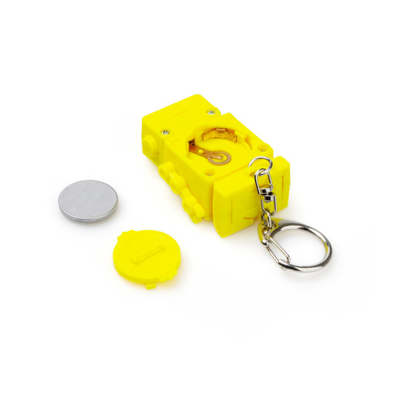 Balvi Key ring Robot Yellow colour With light 3 screwdriver bits ABS plastic/stainless