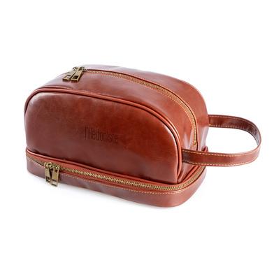 Balvi Neceser l'Hédoniste Color marrón Con dos compartimentos y asa Polipiel 25cm