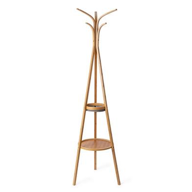 Balvi Porte-manteaux Cairo 6 crochets Un vide-poche et une étagère Bambou 177 cm