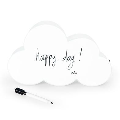 alvi Pizarra con luz Nuvola Color blanco En forma de nuve Con Cable USB También funciona con pilas P