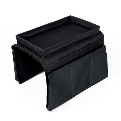 Balvi Organizador de sofà Sofa Master Color negro Con 6 bolsillos y bandeja Poliéster
