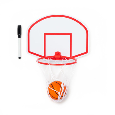 alvi Basket Magneto Basketball set and white board With ball and black marker with eraser Magnetic 2