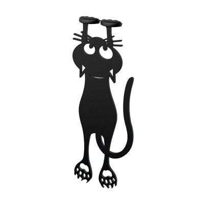 Balvi Marcapáginas Curious Color negro Con forma de gato 12cm Plástico/nylon