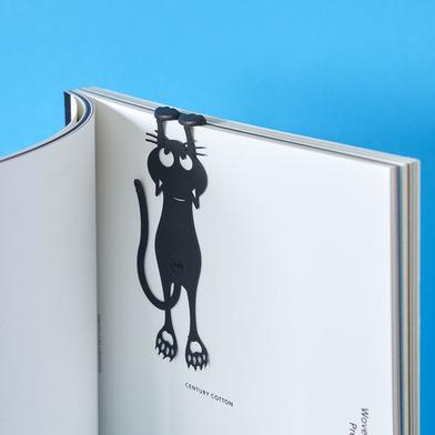 Balvi Bookmark Curious Black colour Shaped cat 12cm Plastic/nylon