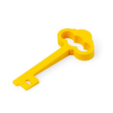 Balvi Tope & aguantapuertas My Castle Color amarillo En forma de llave Doble función Silicona
