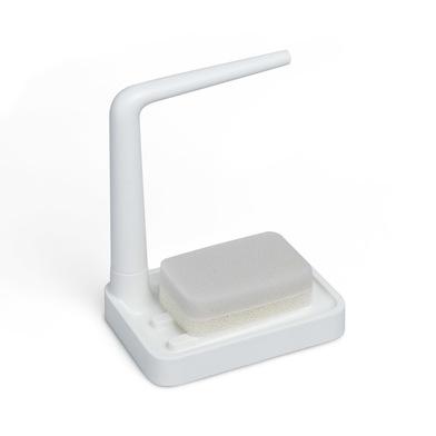 alvi Set limpiavajillas Minim Color blanco Con soporte para trapo Con esponja Con topes antideslizan