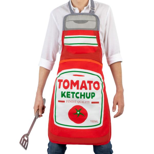 Balvi Grembiule Tomato Con fibbia regolabile a forma di bottiglia di birra Poliestere/cotone 88cm