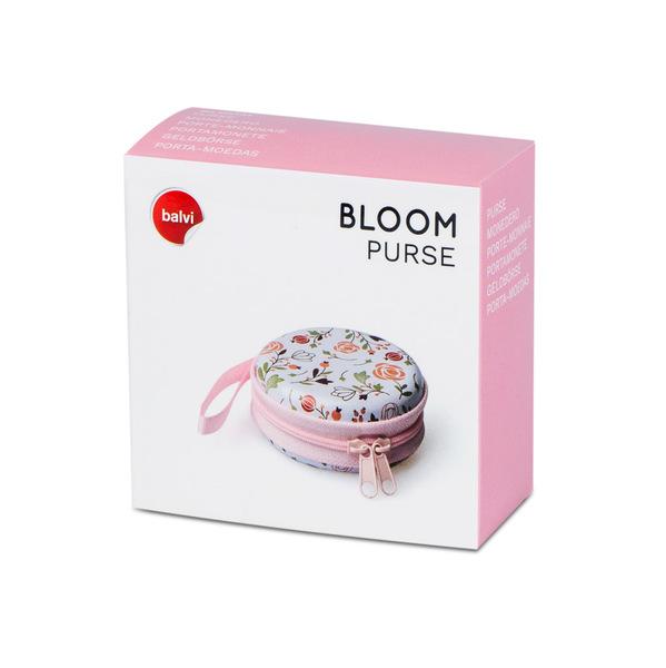 Balvi Monedero Bloom Redondo Con cremallera Metal