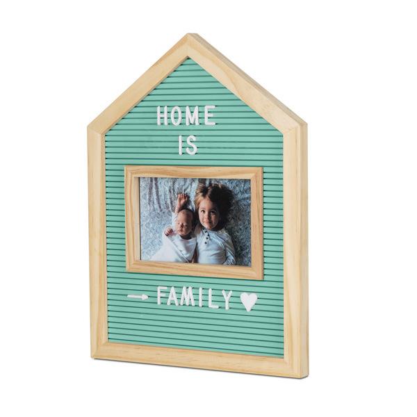 alvi Marco & tablero letras Home Color verde Para fotos de 10x15 Con letras, números y símbolos Made