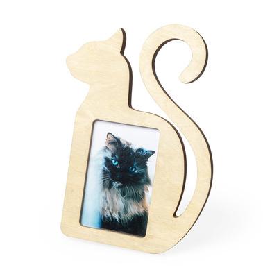 Balvi Marco Cat Color madera natural En forma de gato Para foto de 10x15cm Madera DM 29cm