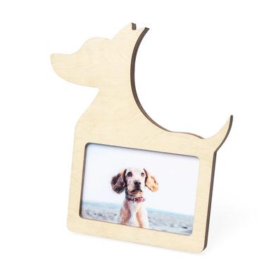 Balvi Marco Dog Color madera natural En forma de perro Para foto de 10x15cm Madera DM 25cm