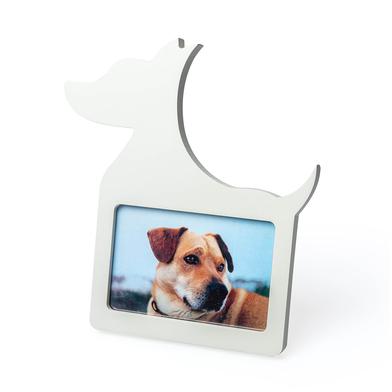 Balvi Marco Dog Color blanco En forma de perro Para foto de 10x15cm Madera DM 25cm