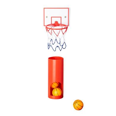 Balvi Panier de basket Private Avec 3 balles jeu de basket-ball pour WC Plastique ABS/plastique PVC
