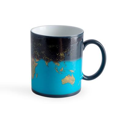 Balvi Mug Sunrise Cambia de color! Taza con dibujo de la Tierra Capacidad: 290ml Cerámica