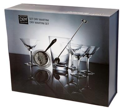 alvi Set Dry Martini Dry Collection Set de 7 piezas para preparar martinis o cócteles Dry Martini Ba