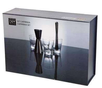 alvi Set Caipirinha Dry Collection Set de 6 piezas para preparar mojitos y caipirinha Dry Martini Ba