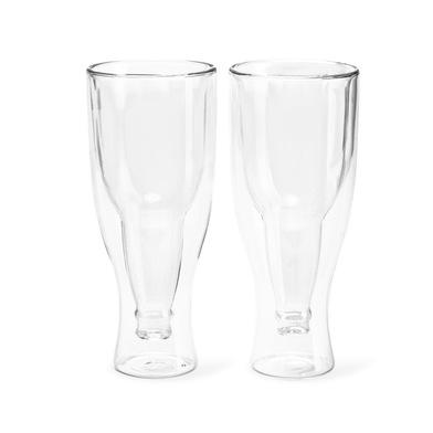 alvi Verre à bière Gravity Kit de 2 verres de 250 ml Double paroi Conserve le froid En forme de bout