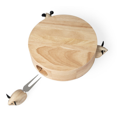 Balvi Cheese set I Love Cheese Magnetic 4-piece set to cut and serve cheese Wood/stainless