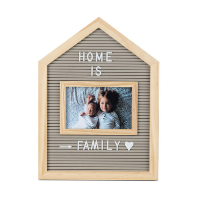 alvi Home Frame & letter board Gray colour For 10x15 photos With letters, numbers and symbols Wood 3