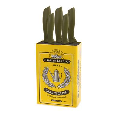 Balvi Soporte cuchillos Olio Gran capacidad Con forma de lata de aceite de oliva Lata