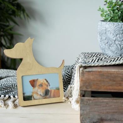 Balvi Frame Dog Natural Wood colour Dog-shaped For 10x15cm photo MDF wood 25cm