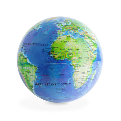 Balvi Globe terrestre Magic Couleur bleu Giratoire 360º Plastique PS 14cm