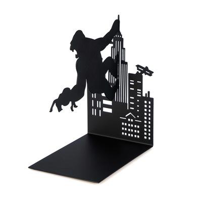 Balvi - Kong decorative metal bookend in black colour