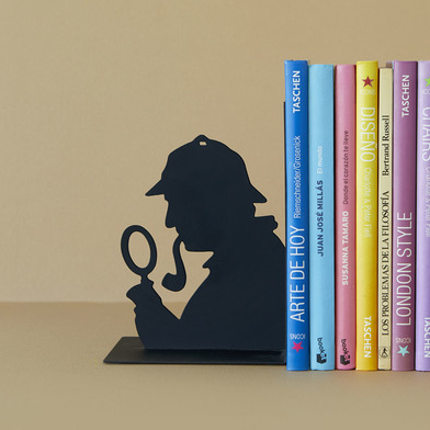 Balvi - Sherlock decorative metal bookend in black colour