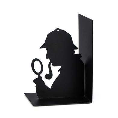Balvi - Sherlock serre-livres décoratifs en métal de couleur noire