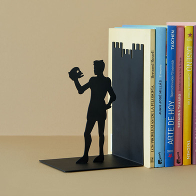 Balvi - Hamlet decorative metal bookend in black colour