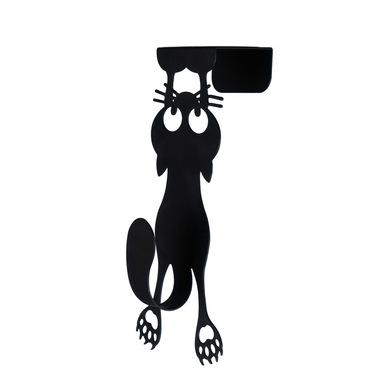 Balvi Colgador puerta Curious Cat Color negro En forma de gato Metal 21 cm