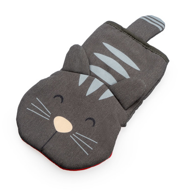 Balvi Oven mitt Meow! Gray color Cat shapped Heat resistant: 250ºC Polyester/Silicone