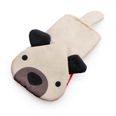 alvi Manopla cocina Woof! Color beige En forma de perro Manopla para horno Resistente al calor 250ºC