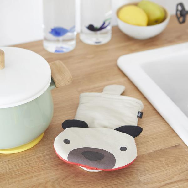 alvi Guantone cucina Woof! Colore Grigio In forma di gatto Manopola da forno Mitt resistente fino a