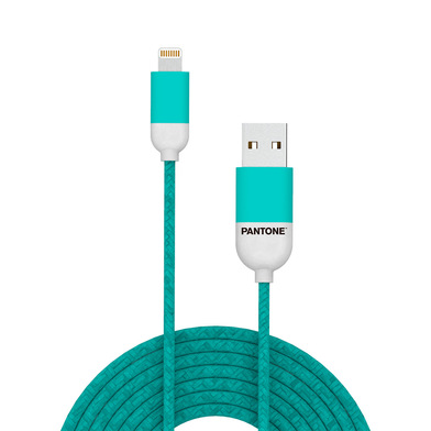 alvi Cable Lightning USB 1m Pantone Color turquesa Para iPhone,iPad,iPod Certificación MFI de Apple