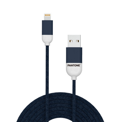 alvi Cable Lightning USB 1m Pantone Color azul marino Para iPhone,iPad,iPod Certificación MFI de App