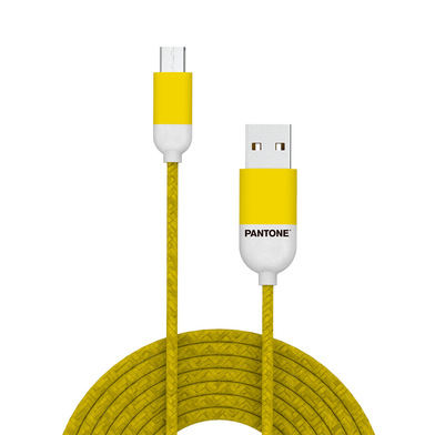 alvi Cable Micro USB 1m Pantone Color amarillo Para Android, Kindle y otros dispositivos con conecto