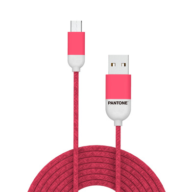 alvi Cable Micro USB 1m Pantone Color rosa Para Android, Kindle y otros dispositivos con conector mi