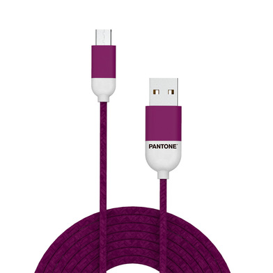alvi Cable Micro USB 1m Pantone Color púrpura Para Android, Kindle y otros dispositivos con conector