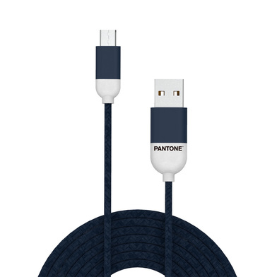 alvi Cable Micro USB 1m Pantone Color azul marino Para Android, Kindle y otros dispositivos con cone