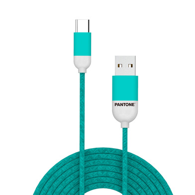 alvi Cable Type-C USB 1m Pantone Color turquesa Para dispositivos con conector USB Type-C, funciona