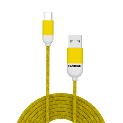 alvi Cable Type-C USB 1m Pantone Color amarillo Para dispositivos con conector USB Type-C, funciona