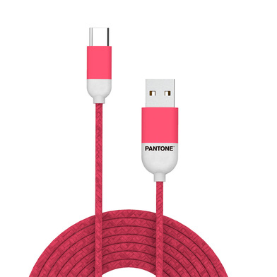 alvi Cable Type-C USB 1m Pantone Color rosa Para dispositivos con conector USB Type-C, funciona con