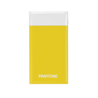 alvi Batterie 6000mah Pantone Couleur jaune Charge rapide Indicateur de charge LED Avec câble USB DC