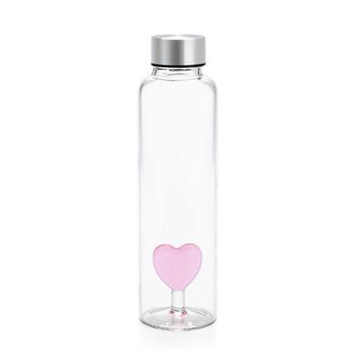 alvi Botella Love para agua 0,5 Lts Tapón antigoteo de acero inoxidable Ideal mesita de noche y ofic